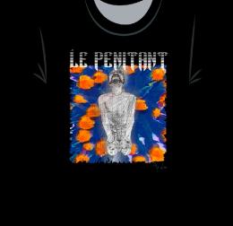 Le pénitant sur tee-shirt Noir-WEB